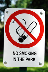 No Smoking signpost