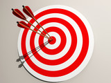 Aimed target poster