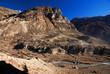 Nepal village and mountain