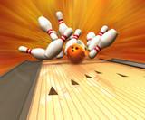 Fototapety Bowling Strike