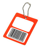 blank price tag with fake bar code poster