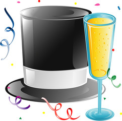 Top hat and Champagne