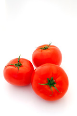 Bright Red Isolated Tomatoes