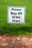 staff off the grass poster