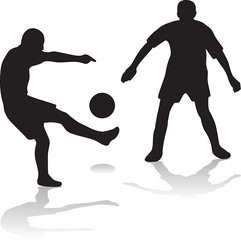 vector silhouette football players