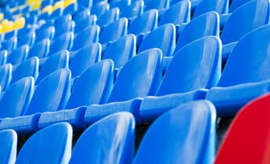empty stadium chairs background