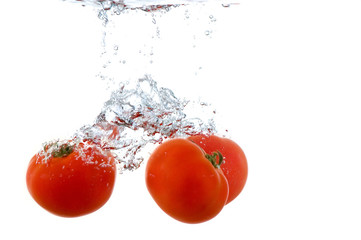 Splashing tomato