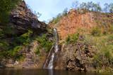 Tjaynera (Sandy Creek) Falls in northern Australia poster