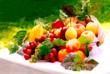 Leinwanddruck Bild Fruit Mixing