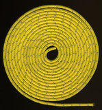 yellow rope in tight coils poster