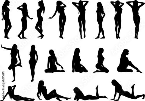 sexy women silhouettes - 8010645