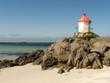 Lighthouse on Eggum's beach