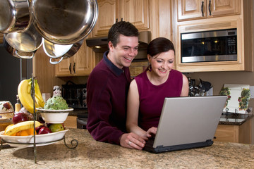 Couple with Laptop - Horizontal