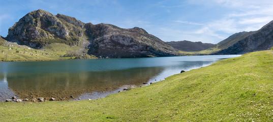 Mountain and lake (panoramic)