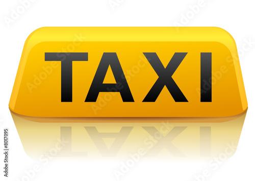 enseigne de taxi jaune new york reflet fichier vectoriel libre de droits sur la banque d. Black Bedroom Furniture Sets. Home Design Ideas