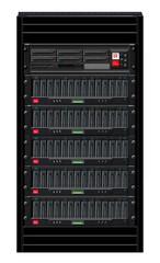 Black Computer Server Cabinet