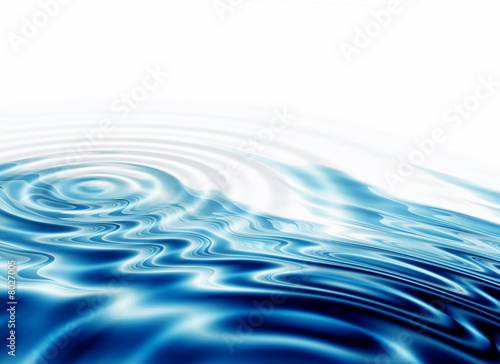 Leinwanddruck Bild crystal clear water ripples