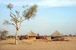 Little village in Thar desert, Jaisalmer, Rajasthan, India