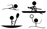 Sports Icons (Swim/Kayaking/Rowing/WaterPolo) poster