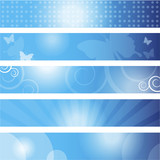 Set of banners background (350x60 pixels) poster