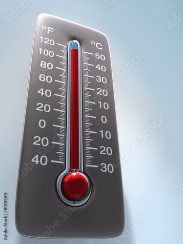 Leinwandbild Motiv Thermometer
