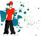 young man hip hop fashion vector illustration poster