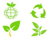 Environmental conservation symbols 3 poster