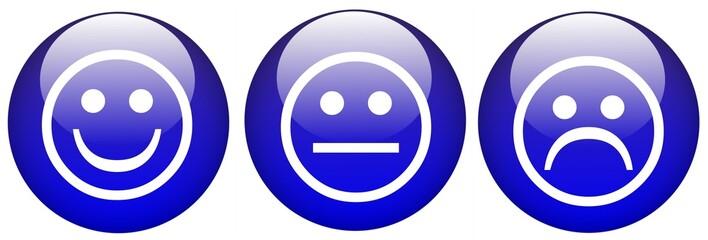 kugeln blau smileys