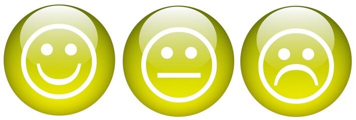 kugeln gelb smileys
