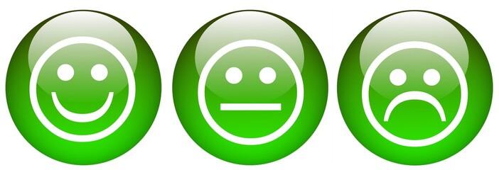 kugeln grün smileys