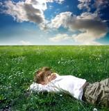 Fototapety grass field