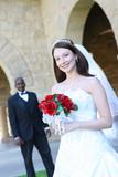 Attractive Interracial Wedding Couple poster