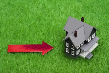 House with arrow