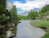 HDR Lago delle streghe...Parco nazionale veglia devero poster