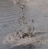 Geothermal Mud Exploding poster