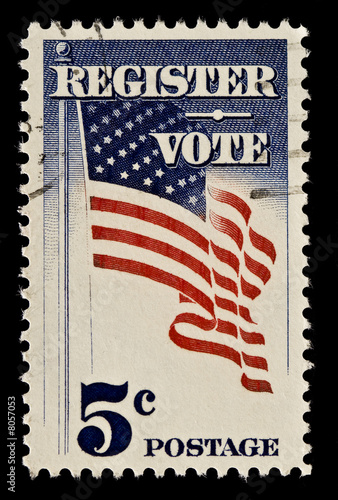 Register and Vote Postal Stamp