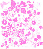 pink on white complicated pattern poster