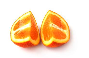 quarters of orange
