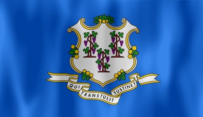 connecticut flag drapeau