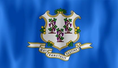 connecticut flag drapeau