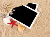 Fototapety Pictures in a beach concept. Vacation memories..