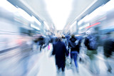 Fototapety abstract zooming passengers in subway