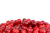 Pile of the red cherries without stalks poster