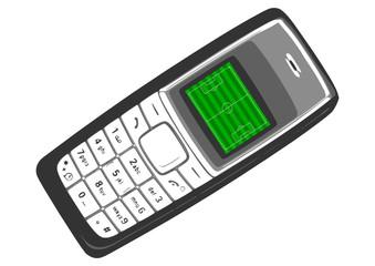 telephone, soccer