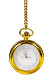 Retro golden clock - time passing concept poster
