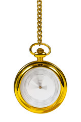 Retro golden clock - time passing concept