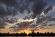 Manhattan sunset at the reservoir