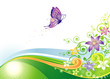 Butterfly Floral design, vector illustration layers file.