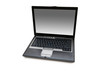 Silver laptop isolated on the white background