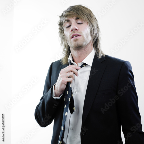 Businessman and necktie